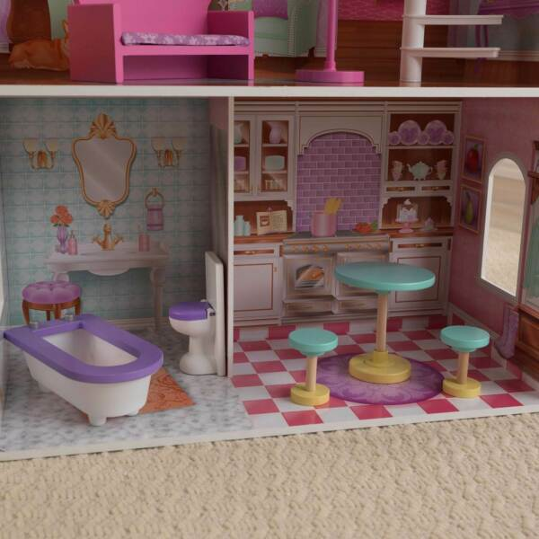 KidKraft Penelope Wooden Pretend Play Dollhouse Mansion w Furniture (Used)