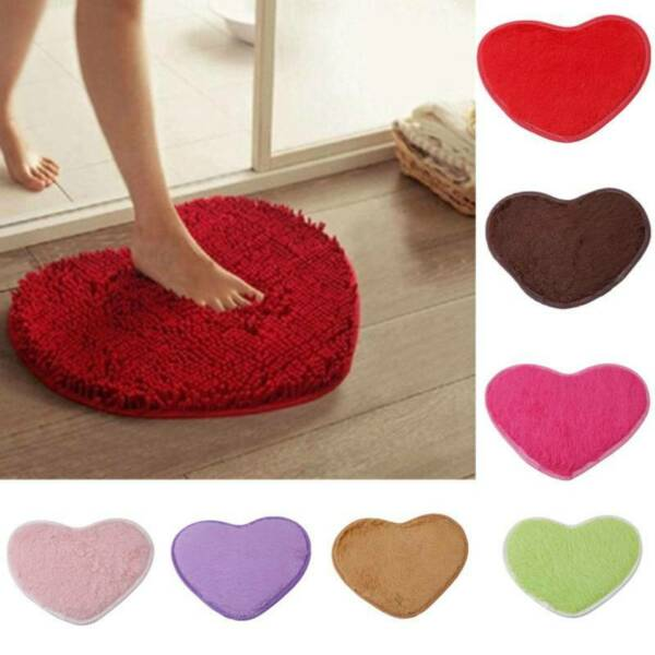 Creative Love Carpet Carpet 1 Piece Solid Hand Wash Soft Living Room Supply CF