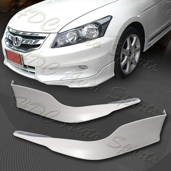 For 2011 2012 Honda Accord 4 DR OE Style Painted White Front Bumper Aprons Lip $52.99