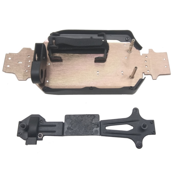 Wltoys 144001 Aluminum Chassis Body Frame w Side Walls & Top Center Brace 1249 $13.99