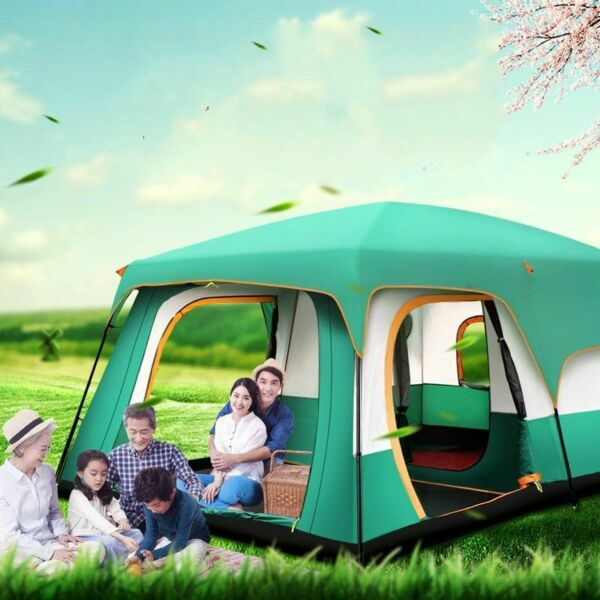 Outdoor Tent Waterproof Camping Dual Layer Ultralight 8 Person Beach Hike Travel
