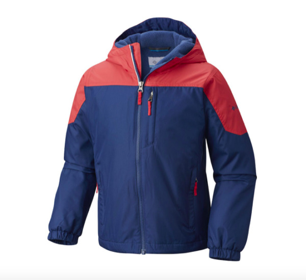 Columbia Ethan Pond Boys Hooded Jacket Size S (8) Store Display