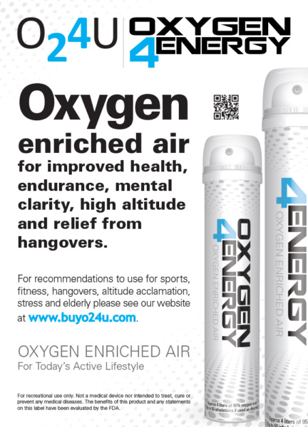 Oxygen4Energy (5 canisters) breathe 500% better with a portable solution