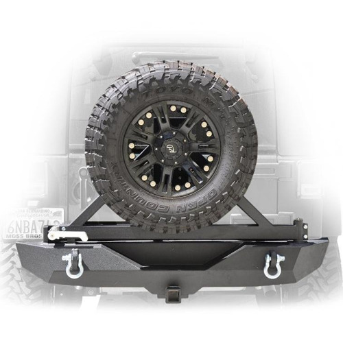 DV8 Offroad RBSTTB-01 Rear Bumper with Tire Carrier for 07-18 Jeep Wrangler JK