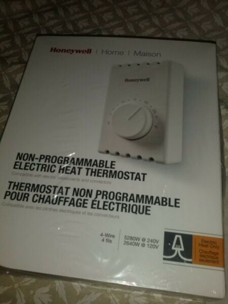 Honeywell nonprogrammable electric heat thermostat CT4108 C $14.25