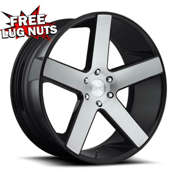 24 inch 24x10 DUB 1PC S217 BALLER BLACK BRUSHED wheels 6x5.5 6x139.7 +30