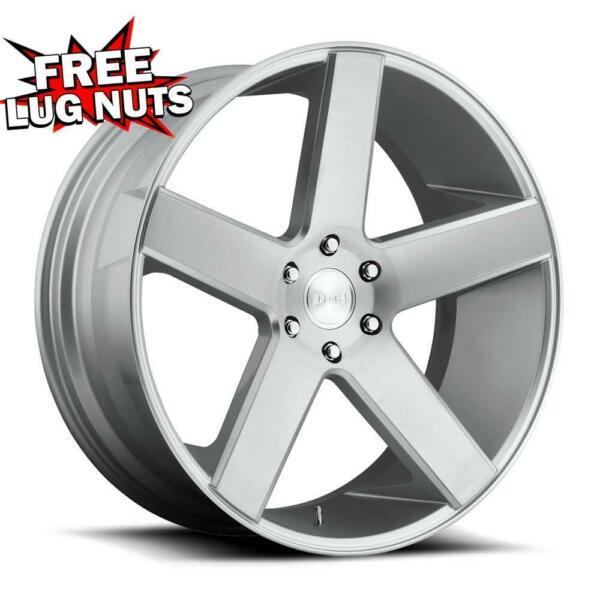 24 inch 24x10 DUB 1PC S218 BALLER SILVER BRUSHED wheels 6x5.5 6x139.7 +19