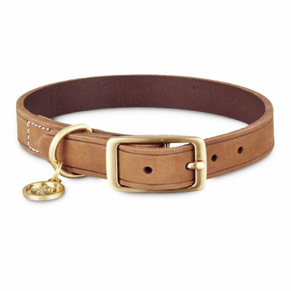 Bond amp; Co. Suede Leather Dog Collar in Copper For Neck Size 8 10 XS S $8.99