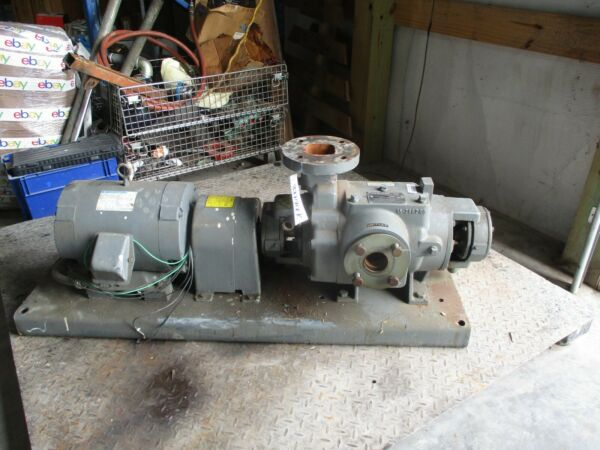NASH SC2 4 PUMP MOTOR AND BASE TESTNO. 93D0168 #327901K 1750RPM USED $1500.00