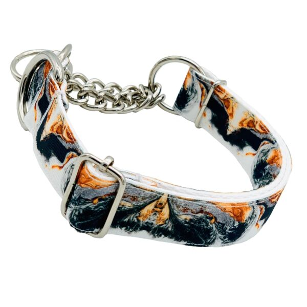 Marble and Copper Martingale Dog Collar $26.99
