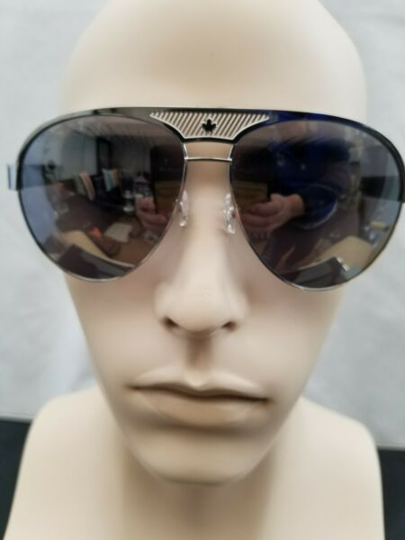 Men#x27;s Dsquared2 Sunglasses Polished Silver Frame Mirrored Lenses $200.00