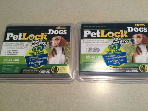 Pet Lock Plus Dog Flea Treatment 6 Doses For dogs 23 44 lbs 6 month supply $25.00