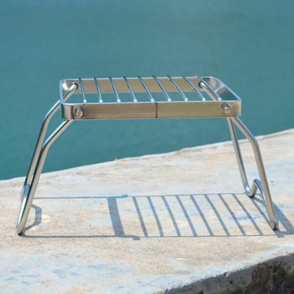 Stainless Grill Camping Stove Ultralight Rack Folding Outdoor Picnic Cooking New
