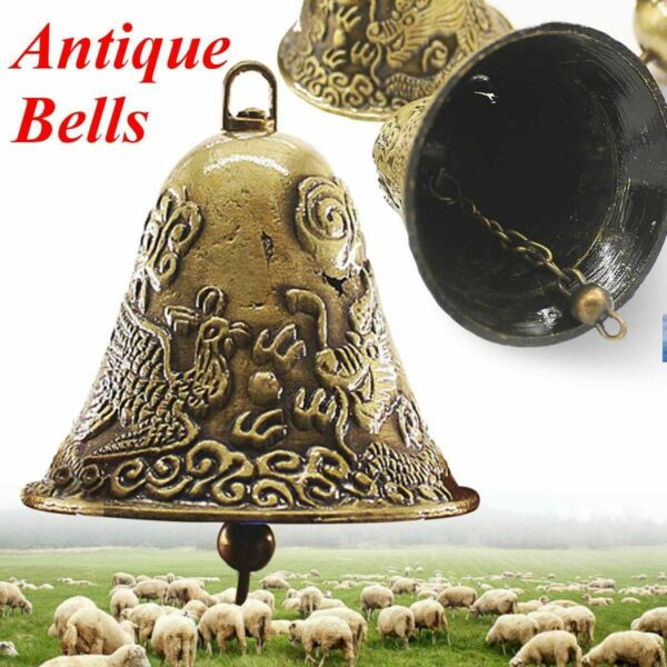 Cow Horse Sheep Grazing Copper Bells Large Thickened Cattle Sheep Antique Bells