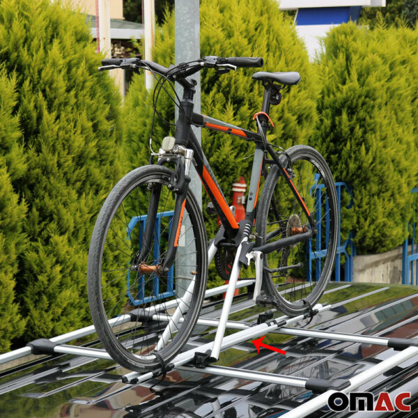 Roof Bike Bicycle Carrier Rack Mount Alu Silver For Hyundai Kona 2020 2021 $80.66