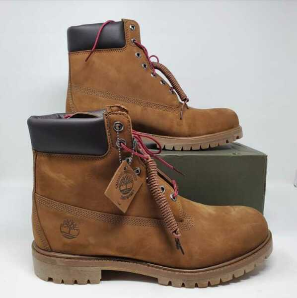 NEW MEN#x27;S 12 TIMBERLAND FOR J CREW PREMIUM 6quot; WATERPROOF BOOTS IN BROWN NUBUCK $219.99