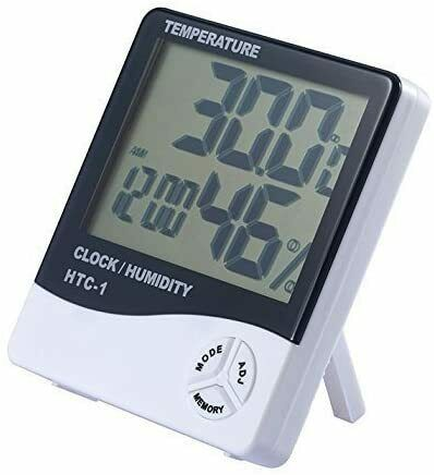 Indoor Large LCD Display Thermometer Humidity Hygrometer Temperature $16.95