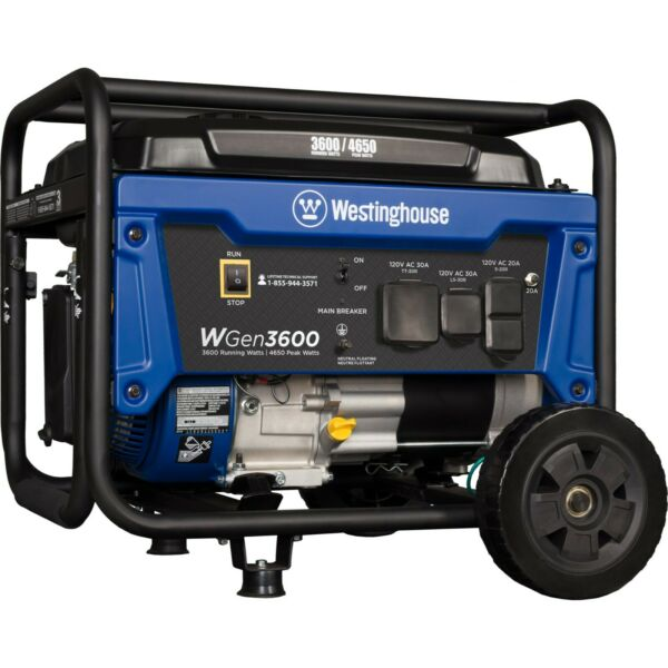 Refurbished Westinghouse WGen3600 Portable Generator