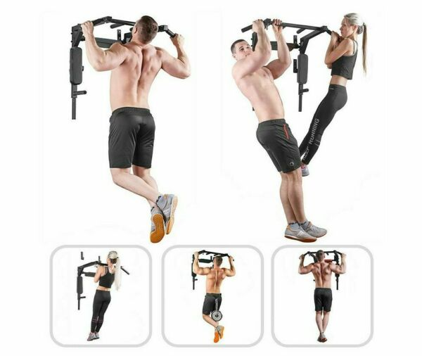 Wall Horizontal Bar Lead up Device Home Fitness Equipment Parallel Bar Punching $330.32