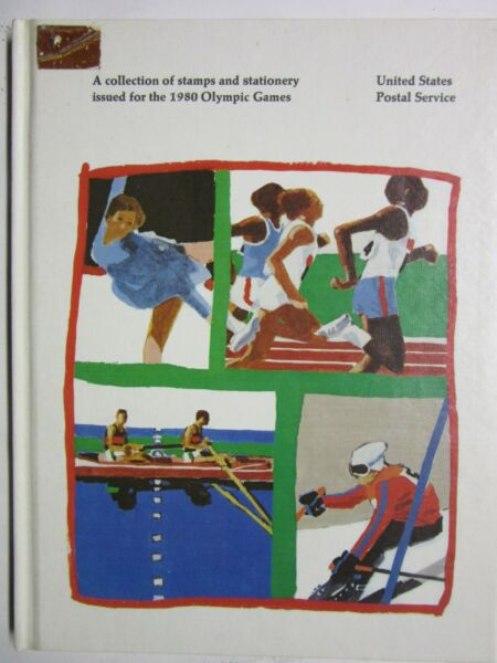 USPS Collection of Stamps amp; Stationary for 1980 Olympics Hardcover Book $2.80