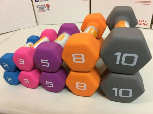 CAP Neoprene Dumbbell 10 lb 8 lb 5 lb 3 lb 2 lb - SELECT YOUR WEIGHT BUNDLE!