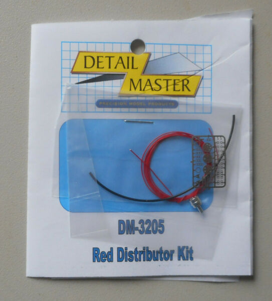RED WIRED DISTRIBUTOR KIT 1:24 1:25 DETAIL MASTER CAR MODEL ACCESSORY 3205