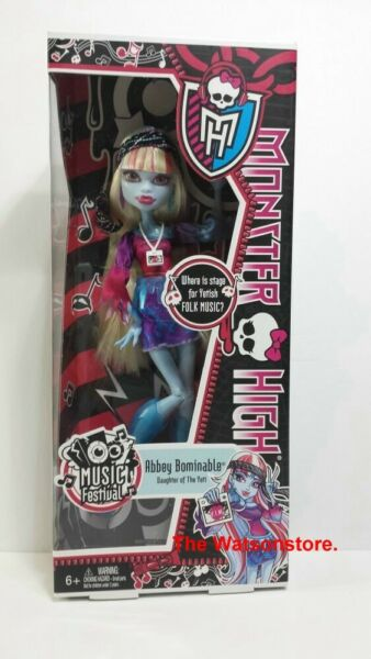 Monster High Music Festival Abbey Bominable Doll Y7695 $16.95