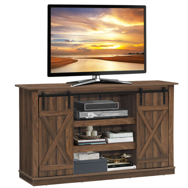 Sliding Barn TV Stand Console Table for TV's Up to 60