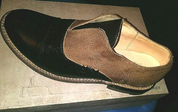 BED STU $235 TAN RUSTIC ROSE 6 LEATHER SLIP ON CAP TOE LOAFERS BLACK BROWN TAN