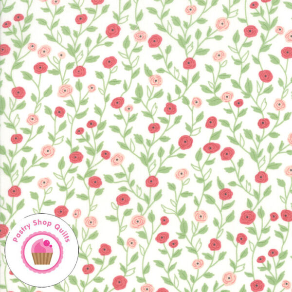 Moda BLOOMINGTON 5112 11 Ivory Pink Floral LELLA BOUTIQUE Quilt Fabric