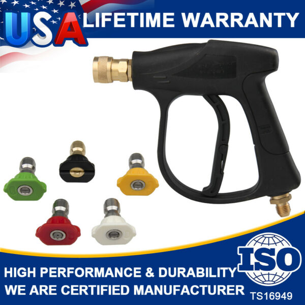 Snow Foam Lance High Pressure Power Washer Gun Water 4000 PSI 5color Nozzles Tip