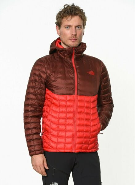The North Face Men#x27;s Thermoball Hoodie Jacket Size XXL Red Sequoia Red