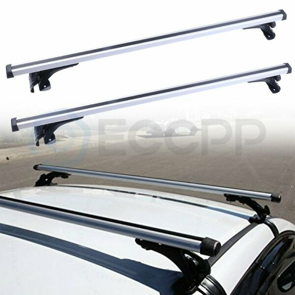 Universal Car Top Roof Rack Cross Bar 48quot; Luggage Cargo Carrie Adjustable black $80.09