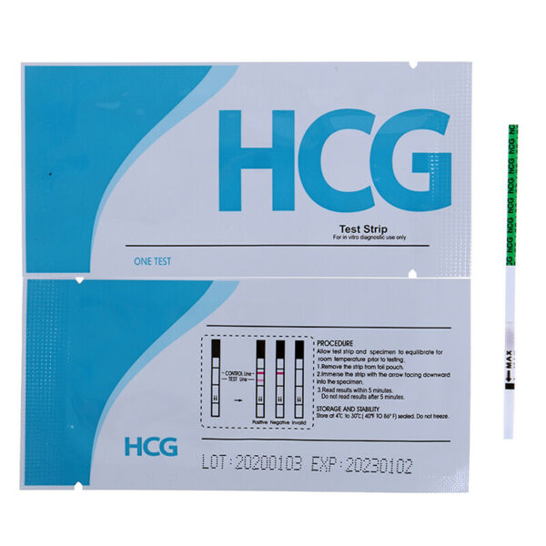 Pregnancy Test Strips ULTRA EARLY 10mIU HCG Urine Testing Kits One Step CO
