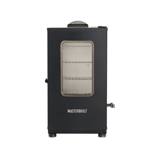 Masterbuilt Digital Electric Stainless Steel BBQ Smoker Grill Black Open Box