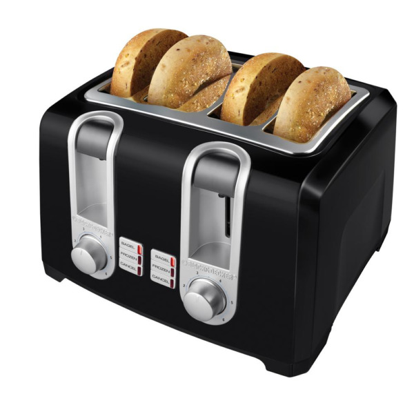 Slot Black Toaster 4 Slice Extra Wide With Browning Control Cool Touch Housing
