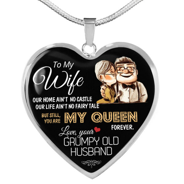 Premium Heart Necklace Anniversary Love Gift For Wife You#x27;re my Queen Forever $25.32