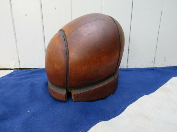PRIMATIVE RUSTIC MILLINERS ANTIQUE VINTAGE WOODEN HAT CAP BLOCK WINDOW DISPLAY