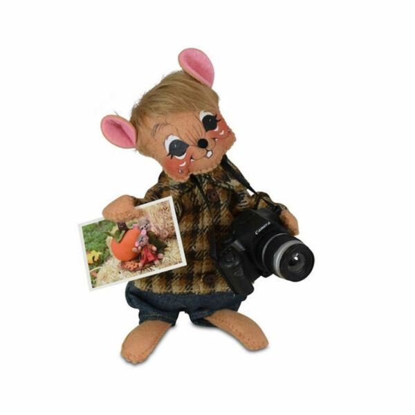 Annalee Dolls 2020 Harvest 6in Foliage Photo Mouse Plush New with Tags