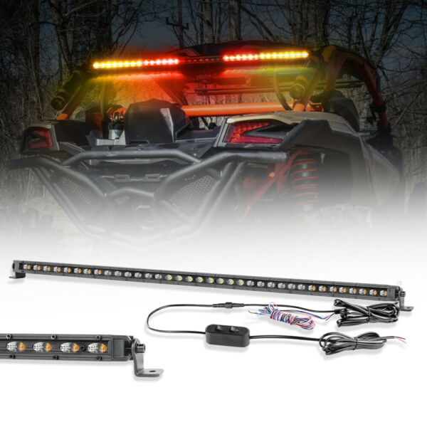 Ultra Slim 37quot;INCH 420W Cree LED Light Bar Offroad Truck Driving Emergency Amber