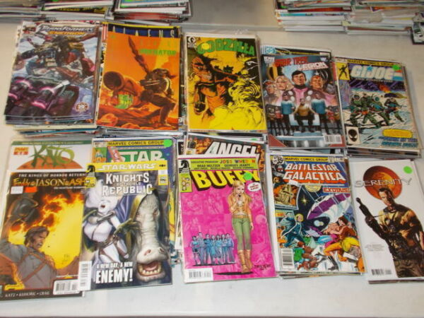 Lot of 300+ ALL Movie & TV Comic Book AN ENTIRE LONGBOX Star Wars Trek Predator