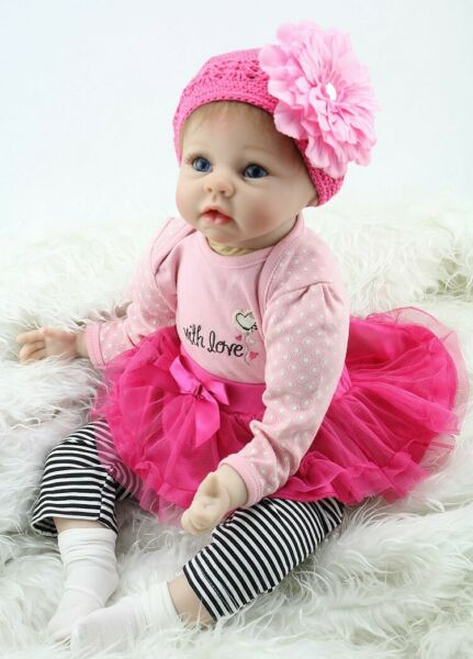 22'' Real Life Like Toddler Baby Doll Realistic Reborn Dolls Girl Baby Gift Set
