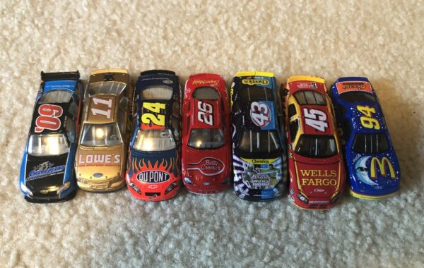 Lot of 7 164 scale NASCAR Diecast Loose Used 1990s 2000s Gordon Petty etc
