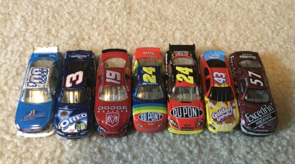 Lot of 7 164 scale NASCAR Diecast Loose Used 1990s 2000s Gordon Earnhardt etc