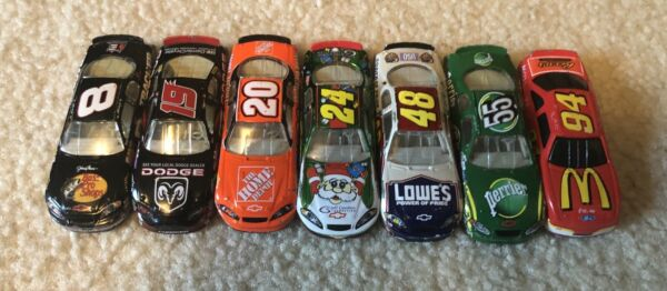 Lot of 7 164 scale NASCAR Diecast Loose Used 1990s 2000s Gordon etc