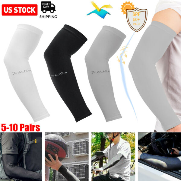 510 Pairs Cooling Arm Sleeves Cover Basketball Golf Sport UV Sun Protection Men $7.99