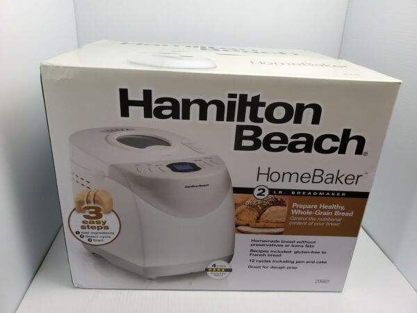 Hamilton Beach 2 lb Digital Bread Maker Model #29881 - Ready to Ship Priority