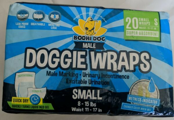 Disposable Dog Male Wraps 20 Premium Quality Adjustable Pet Diapers small dogs $15.50