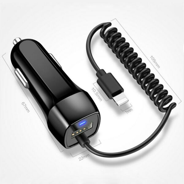 2.1A IN Car Charger For iPhone 11 Pro Max X XS XR 6 7 8 Fast Charging $5.48