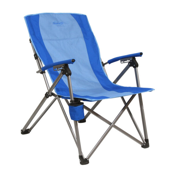 Kamp Rite 3 Position Reclining Hard Arm Camp Folding Chair Blue Used $42.49